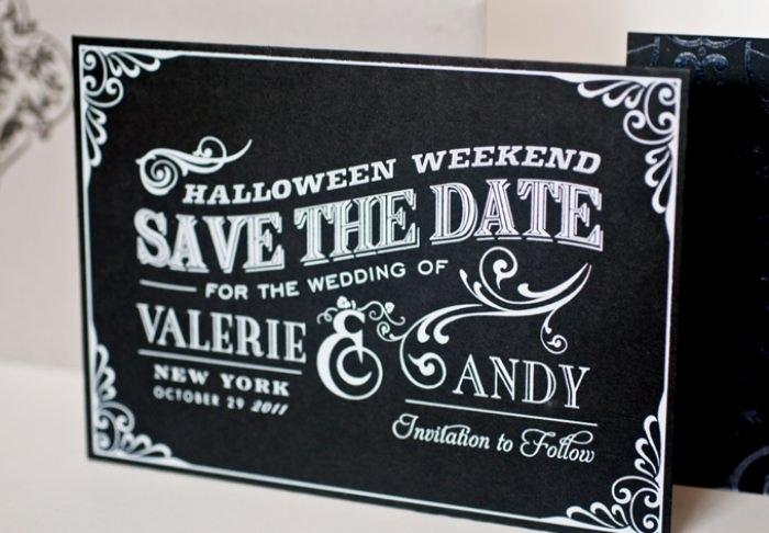 Glam HalloWedding Inspiration New Jersey Wedding Planner – Halloween Wedding Save the Dates