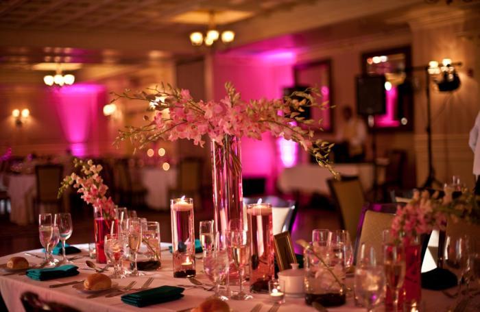 Pink orchid wedding centerpieces cassandre snyder events